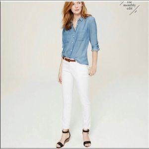 Loft Skinny White Jeans